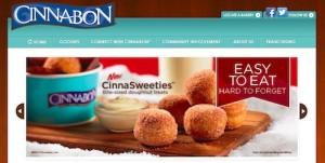 CINNABONサイトトップページのキャプチャ